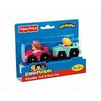 Fisher-Price Little People Wheelies 2-Pack - 4x4 and Race Car