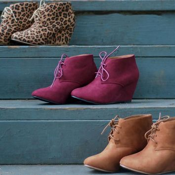 Wedge Oxfords | Camel | Shoes | Fall