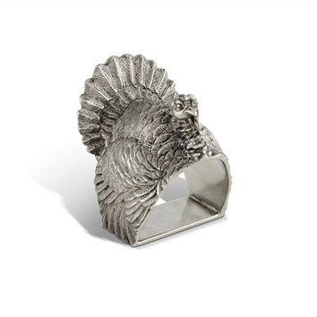 Pewter Turkey Napkin Ring