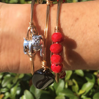 Red Georgia Beaded Bangle
