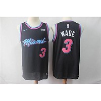 Miami Heat #3 Dwyane Wade City Edition Black Jersey