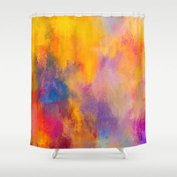 Expressions 9 Shower Curtain by Jai Johnson