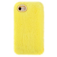 Yellow Faux Fur iPhone Case by Carli Bybel