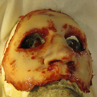 Skinned Horror Half Mask -Christopher-