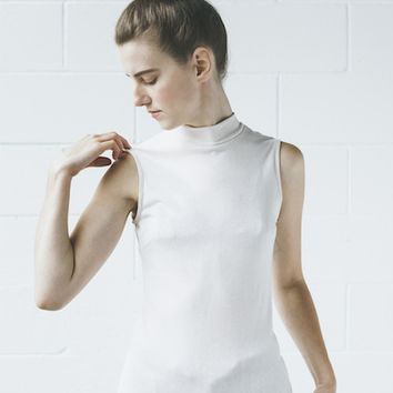 Objects Without Meaning - Mock Neck Tee in Nude