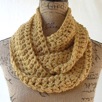 Ready To Ship Mustard Gold Scarf Fall Winter Women's Accessory Infinity 148