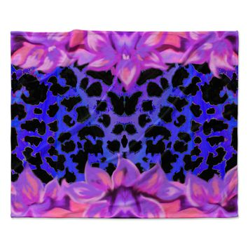 "Nina May ""Cerruda Leora"" Purple Pink Fleece Throw Blanket"