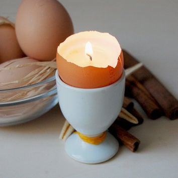 Real Eggshell Candle - Scented Vegetable Wax Candle Eco-friendly - Easter Egg Candle