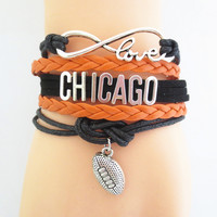 Chicago Bears Football Fan Bracelet