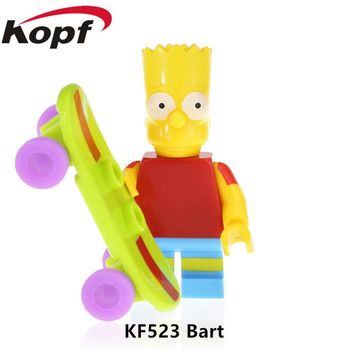 20Pcs Simpsons Family Action Figures Bart Nelson Marge Pablo Picasso Building Blocks Bricks Learning Gift Toys Children KF523