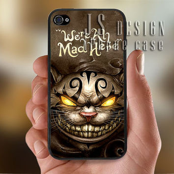 Alice in Wonderland Cheshire Cat Smile   - Photo Print for iPhone 4/4s Case or iPhone 5 Case - Black or White