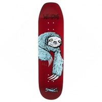 Sloth On Moontrimmer Burgundy 8.5 inch Deck by Welcome Skateboards