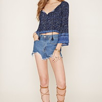 Floral Bell-Sleeve Top | Forever 21 - 2000205492