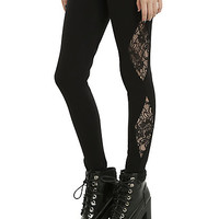 Blackheart Black Lace Leggings