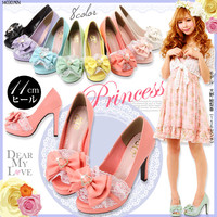 lace & ribbon Princess pumps