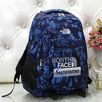 Supreme x The North Face Woman Men Fashion Travel Backpack School Bookbag