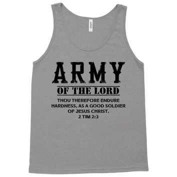 Army Of The Lord Christian T Shirts Bible Verse Tank Top
