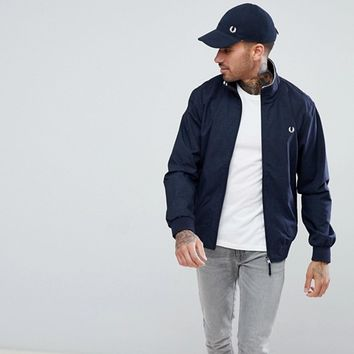 Fred Perry Brentham Jacket In Navy at asos.com