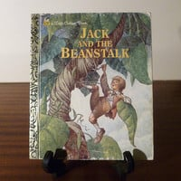 """Vintage 1992 Book """"Jack and the Beanstalk"""" - A little Golden Book / Kids Book / Great Condition / Jack and the Giant"""