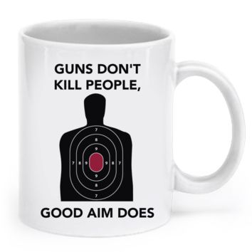 Guns don't kill people - Mug gunsdont