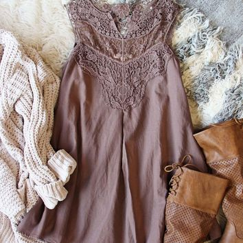 Lace Gypsy Dress in Mocha