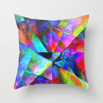 Geometric multicolor Throw Pillow / Indoor .