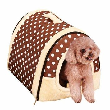 Cute Cat Dog House Dog Bed Pet Bed Warm Soft Dogs Kennel Pet Sleeping Bag Cat Bed Cat House Cama Perro Chihuahua Bichon Basket