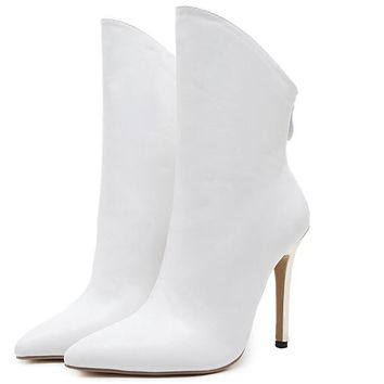 Ankle Boots Roman High Heels Sexy Stiletto Booties