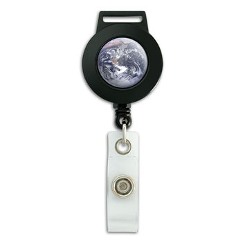 Planet Earth from Space Retractable Badge Card ID Holder