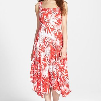 Women's Plenty by Tracy Reese Handkerchief Hem Foliage Print Dress