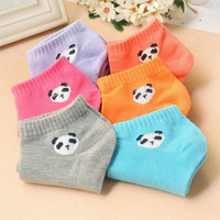 Women socks panda pattern  Korea cute cartoon  candy color socks