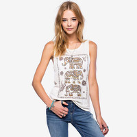 New Summer Women Tank Tops Short Front Long Back Vest Fashion Elephant Printing All-match Solid Casual Women Tank Vest