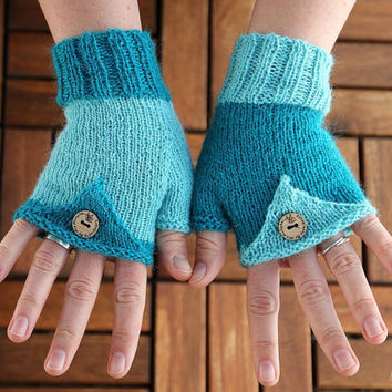 "Fingerless Mittens ""Pointy""  knitting pattern PDF download - suitable for beginners and advanced knitters"