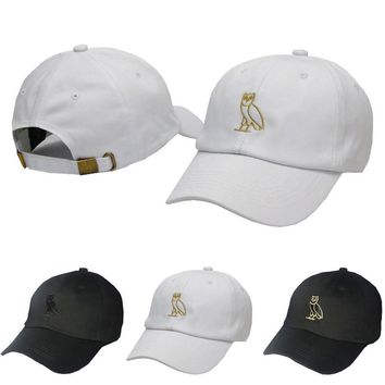cc qiyif Ovo Owl Embroidered Dad Cap