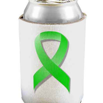 Lyme Disease Awareness Ribbon - Lime Green Can / Bottle Insulator Coolers