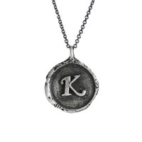 Today SALE!! Letter K Necklace, Silver Initial Necklace, Initial K Necklace, Personalized jewelry, Monogram Alphabet Letter Necklace