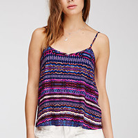 Abstract Tribal Print Cami