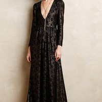 Selene Lace Maxi Dress by Sam & Lavi Black Motif
