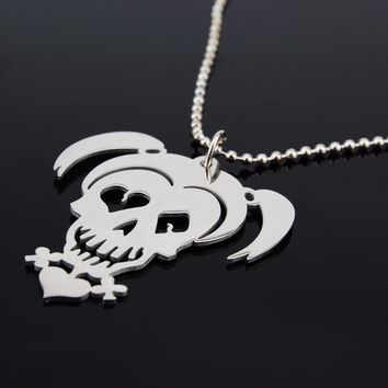 Suicide Squad Necklace Harley Quinn Joker Stainles