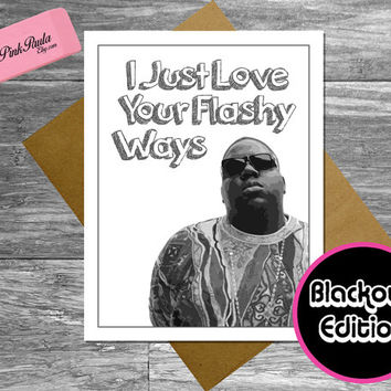 Notorious Big Anniversary Card. 1st anniversary. funny anniversary. happy anniversary. first anniversary. card for boyfriend, for husband