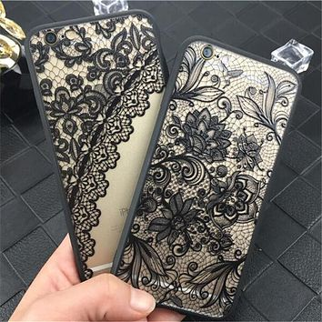 Luxury Sexy Lace Floral Henna Mandala Palace Flowers Phone Case For iphone 5s Cover For iphone 5s 5 SE 6 6s 7