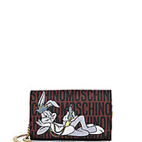 Moschino - Looney Tunes Textured Faux Leather Chain Wallet - Saks Fifth Avenue Mobile