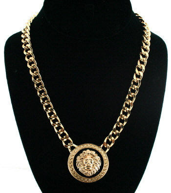 Versace Necklace Style Gold Lion Chain From Dollymariel On