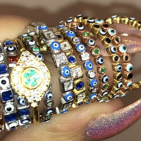 EVIL EYE STACKABLE RINGS