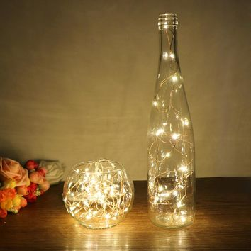String Light for Glass Craft Bottle Fairy 20-LED Copper Wire Decoration Lamp