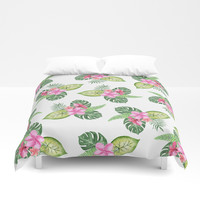 tropical Duvet Cover by Sylvia Cook Photography