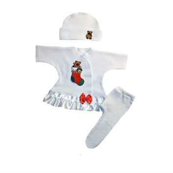Baby Girls' Christmas Stocking 3 Piece Dress Set
