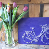 Unique string art bike, home decor