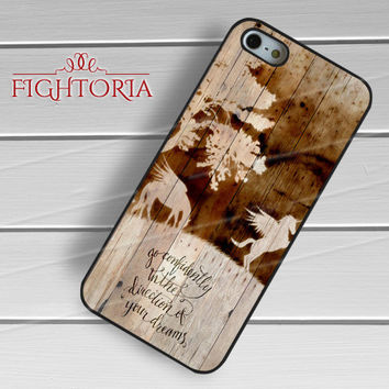 Unicorn Wooden Texture -end for iPhone 6S case, iPhone 5s case, iPhone 6 case, iPhone 4S, Samsung S6 Edge