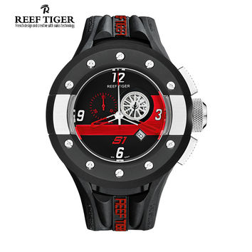 Reef Tiger/RT Chronograph Sport Watches for Men Dashboard Dial Swiss Quartz Movement Watch with Date Designer Watches RGA3027